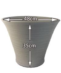 瓦色陶器鉢