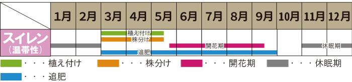 温帯スイレ  ンのカレンダー