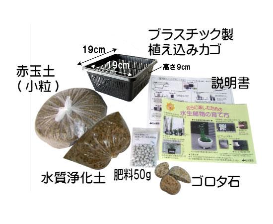 水生植物植え替えセット(硬質赤玉土入り)