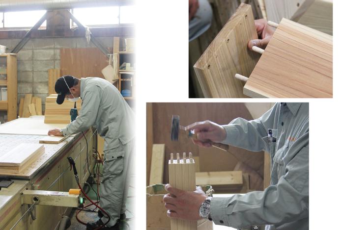 京の高級木枠 京都産・国産杉を使用した職人の手作り品 3