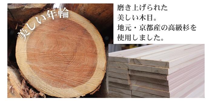 京の高級木枠 京都産・国産杉を使用した職人の手作り品 8