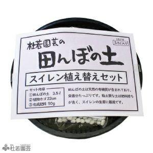 田んぼの土 スイレン植え替えセット(丸型カゴ)